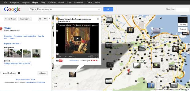 É possível visualizar o vídeo do YouTube em miniatura dentro do Maps (Foto: Reprodução/Aline Jesus) (Foto: É possível visualizar o vídeo do YouTube em miniatura dentro do Maps (Foto: Reprodução/Aline Jesus))