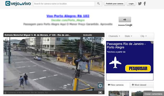 É possível ver as câmeras ao vivo fora do Maps (Foto: Reprodução/Aline Jesus)