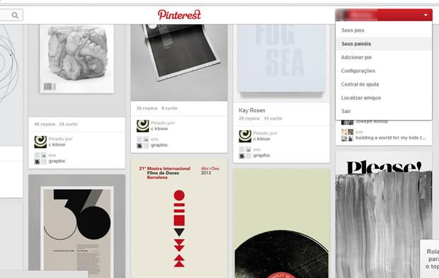Faça login no Pinterest (Foto: Reprodução)