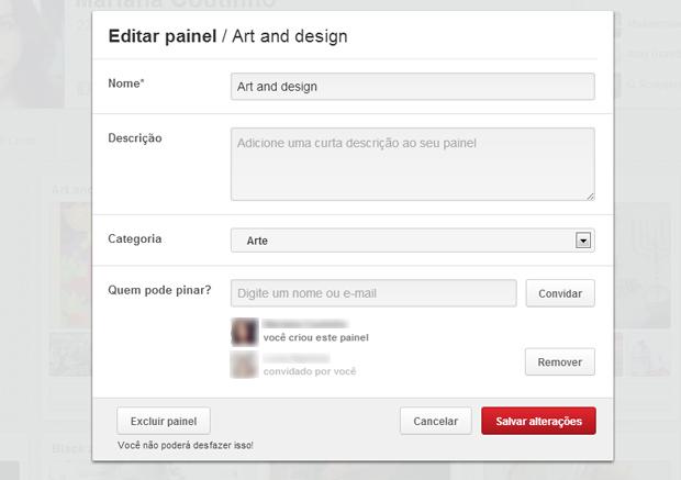 Amigo já tem permissão para publicar no painel (Foto: Reprodução) (Foto: Amigo já tem permissão para publicar no painel (Foto: Reprodução))