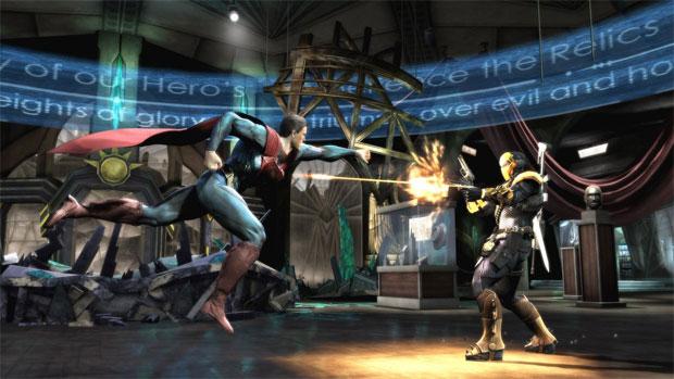 Superman encara o Exterminador em Injustice (Foto: Divulgação)
