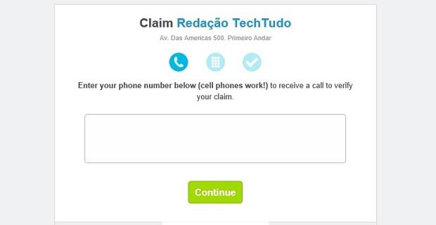 Você vai receber uma ligação em inglês do Foursquare (Foto: Reprodução Thiago Barros)