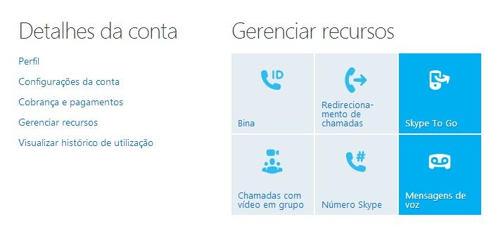 Acessando as configurações da conta para ativar as mensagens de voz do Skype (Foto: Reprodução/ Carolina Ribeiro)