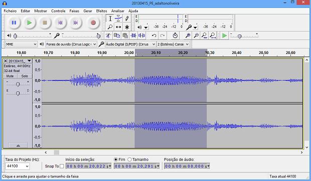 Edição estabilizou volume do som (Foto: Reprodução/Helito Bijora)