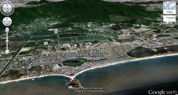Earth oferece conteúdo em 3D no Maps (Foto: Reprodução/Aline Jesus)