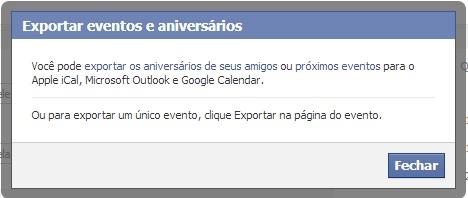 Exportando eventos e aniversários de amigos no Facebook (Foto: Reprodução/Carolina Ribeiro) (Foto: Exportando eventos e aniversários de amigos no Facebook (Foto: Reprodução/Carolina Ribeiro))