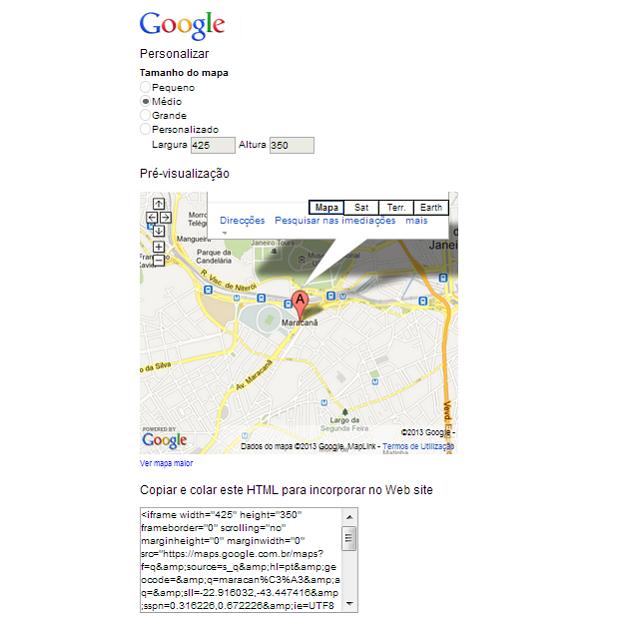 Janela de personalização permite modificar aspecto do mapa (Foto: Reprodução/Aline Jesus) (Foto: Janela de personalização permite modificar aspecto do mapa (Foto: Reprodução/Aline Jesus))