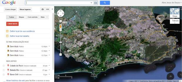 Serviço permite criação de mapas (Foto: Reprodução/Aline Jesus)