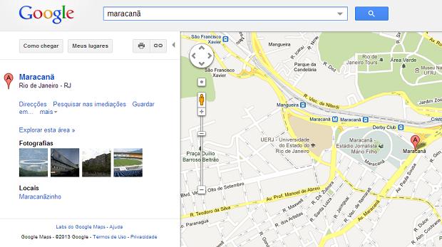 Faça uma busca normalmente para encontrar um mapa (Foto: Reprodução/Aline Jesus)
