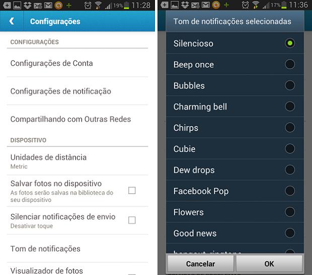 Você também pode configurar o toque das notificações (Foto: Reprodução Thiago Barros) (Foto: Você também pode configurar o toque das notificações (Foto: Reprodução Thiago Barros))