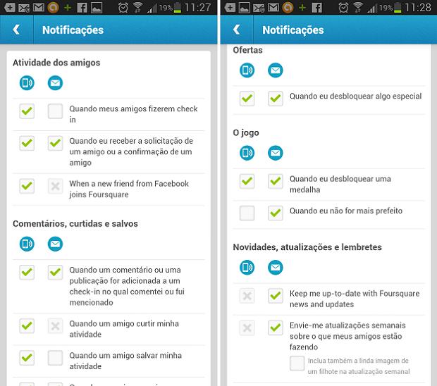 Existe uma variedade de notificações para serem modificadas (Foto: Reprodução Thiago Barros)