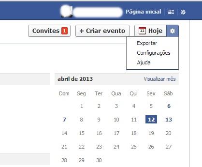 Página com os eventos e aniversários de amigos no Facebook (Foto: Reprodução/Carolina Ribeiro) (Foto: Página com os eventos e aniversários de amigos no Facebook (Foto: Reprodução/Carolina Ribeiro))