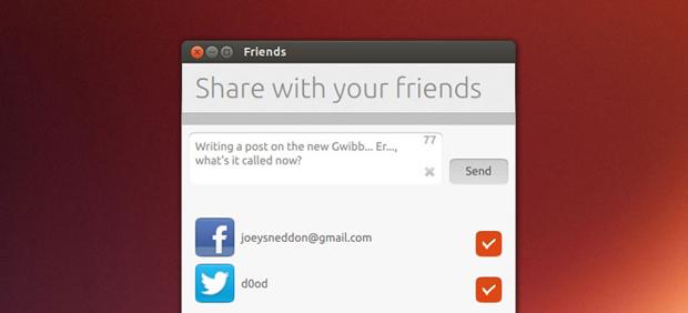 Gwibber foi deixado de lado para a criação do Friends (Foto: Reprodução)