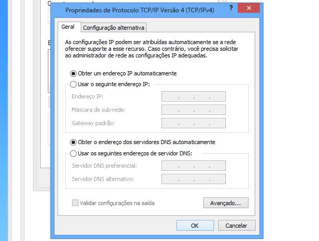 Obtendo IP automaticamente (Foto: Reprodução/Helito Bijora)