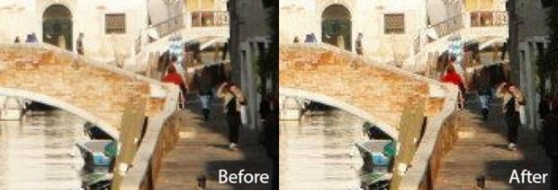 A imagem a esquerda é a original e a da direita foi codificado com uma mensagem secreta (Foto: Reprodução)