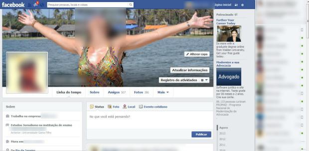 Nova linha do tempo do Facebook está sendo ativada aos poucos (Foto: Reprodução/Aline Jesus)
