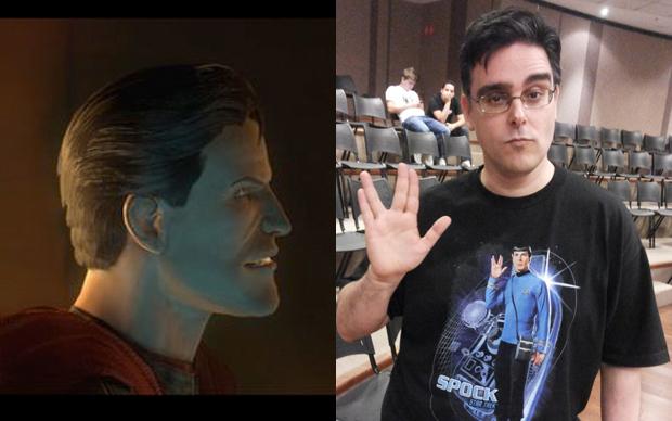 Guilherme Briggs, o dublador oficial de Superman, empresta sua voz ao game Injustice (Foto: Pedro Zambarda / TechTudo)