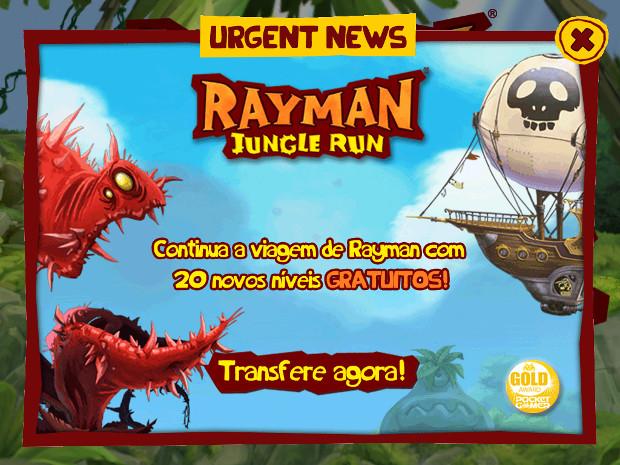 Rayman Jungle Run tem atualização para Android e iOS adicionando 20 novas fases (Foto: Reprodução/Dario Coutinho)