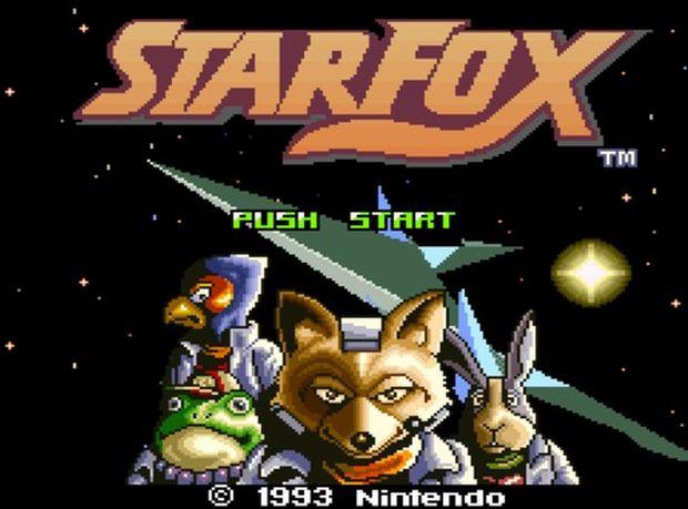 Tela inicial do primeiro Star Fox (Foto: Reprodução/Nintendo)