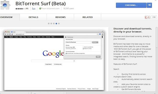 Surf pode ser baixado direto na loja do Chrome (Foto: Reprodução/Thiago Barros)