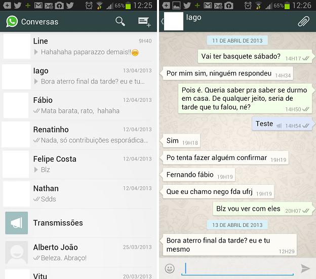 WhatsApp tem menu de emoticons de fácil acesso (Foto: Reprodução/Thiago Barros)