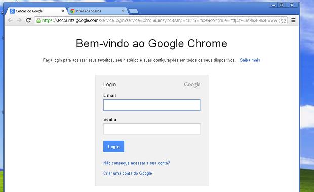 Chrome instalado e pronto para ser usado (Foto: Reprodução/Edivaldo Brito)