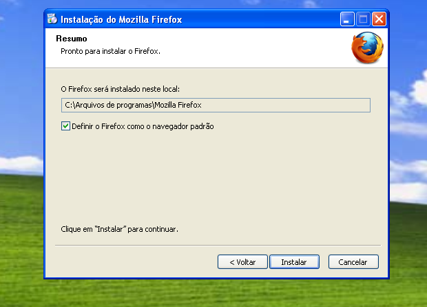 Iniciando a instalação do Firefox (Foto: Reprodução/Edivaldo Brito)
