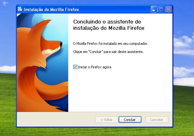 Finalizando a instalação do Firefox (Foto: Reprodução/Edivaldo Brito)