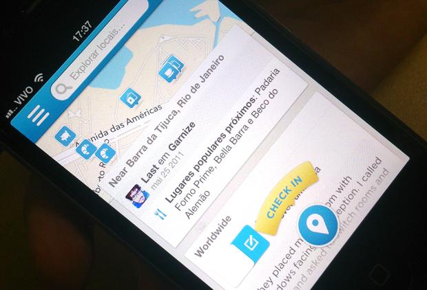 Foursquare é um serviço de recomendações de locais (Foto: Bernardo Cury/TechTudo)