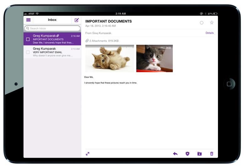 Yahoo Mail lança app para tablets, tanto Android quanto o iPad (Foto: Divulgação)