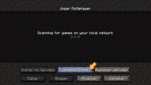 """Opção """"Conexão Direta"""" do menu Multiplayer (Foto: Reprodução/Silas Tailer)"""