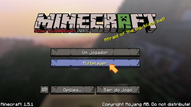 """Opção """"Multiplayer"""" do menu principal (Foto: Reprodução/Silas Tailer)"""