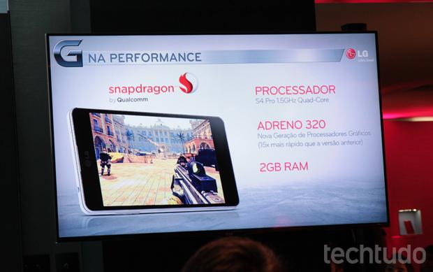 LG Optimus G tem configurações semelhantes, mas melhores que o Galaxy S3 (Foto: Isadora Diaz / TechTudo)
