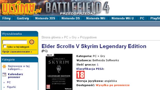 The Elder Scrolls 5: Skyrim - Legendary Edition aparece em loja polonesa (Foto: Reprodução)