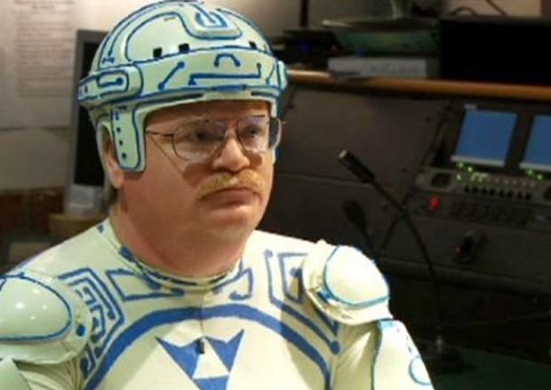 Jay Maynard em sua fantasia de Tron Guy (Foto: Reprodução)