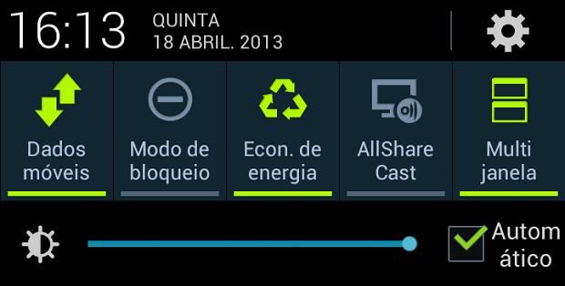 Opção de ativar multijanela fica no menu do Android (Foto: Reprodução/Thiago Barros)