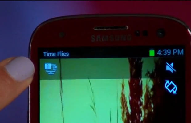 Assim que seus aparelhos estivem conectados, um ícone do AllShare será exibido na tela de seu S3 (Foto: Reprodução/ CNet)