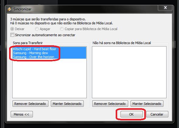 Selecione as músicas a serem transferidas para o Android (Foto: reprodução/Thiago Bittencourt)