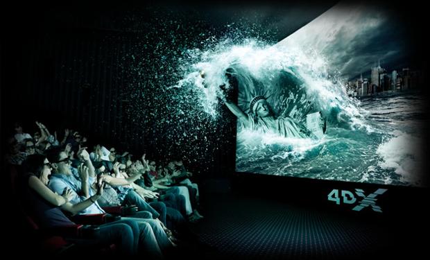 O público pode receber borrifadas de água em uma sala 4DX (Foto: Reprodução/Cinépolis)