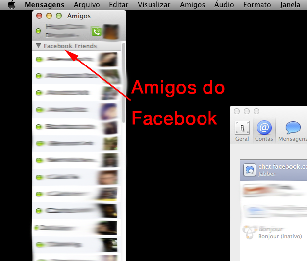 Fale com os seus amigos do Facebook! (Foto: Reprodução/Hugo Carvalho)