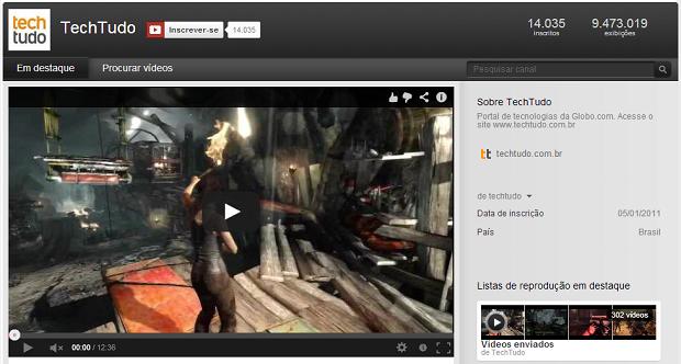 O TechTudo tem um canal no YouTube (Foto: Reprodução/Thiago Barros)