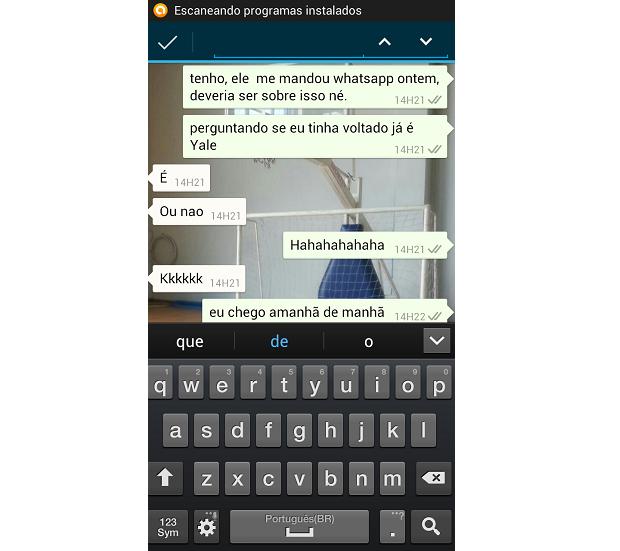 Barra de busca aparece na parte superior da tela (Foto: Reprodução/Thiago Barros)