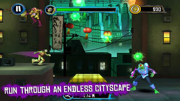 Teenage Mutant Ninja Turtles: Rooftop Run traz as Tartarugas Ninjas para o iPhone e iPad (Foto: Divulgação)