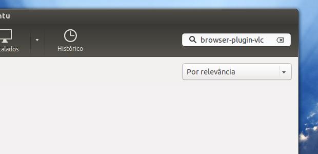 Pesquisando o pacote que instala o VLC e seu plugin (Foto: Reprodução/Edivaldo Brito)