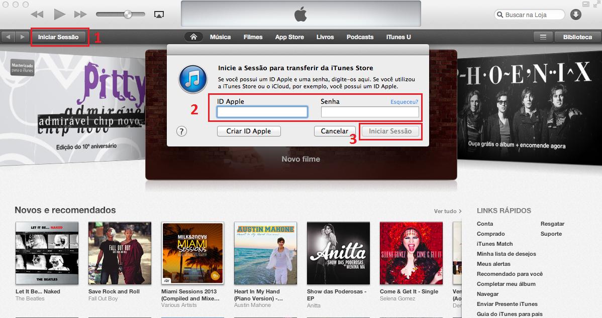 iTunes exige que usuário esteja logado para que forma de pagamento seja alterada (Thiago Bittencourt/