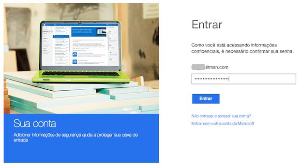Acessando configurações da conta (Foto: Reprodução/Helito Bijora)
