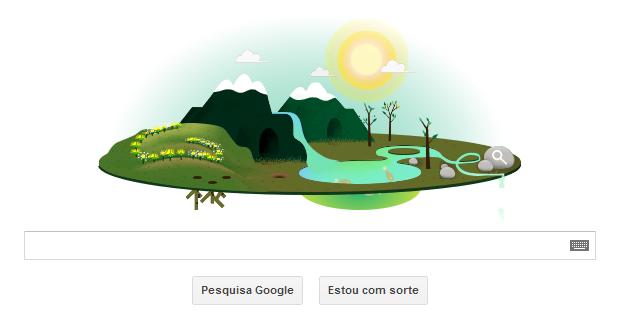 Doodle em homenagem ao Dia da Terra 2013 (Foto: Reprodução/Ricardo Fraga)
