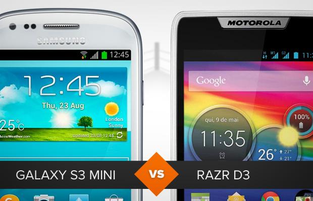 Samsung Galaxy S3 Mini ou Motorola Razr D3? Saiba qual pode ser o melhor pra você (Foto: Arte / TechTudo)