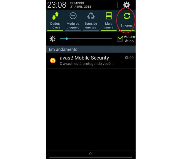 Galaxy S3 traz barra de notificações com atalhos na ordem escolhida pelo usuário (Foto: Daniel Ribeiro/TechTudo)