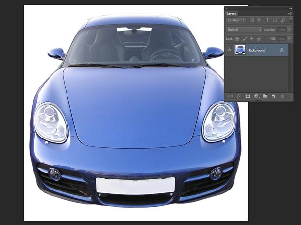Imagem do carro que será usada no tutorial.